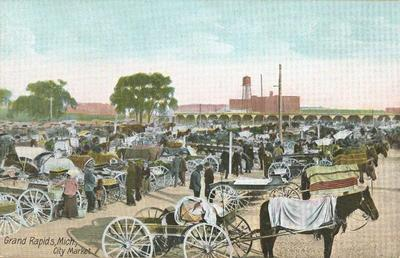Postcard, Grand Rapids City Market