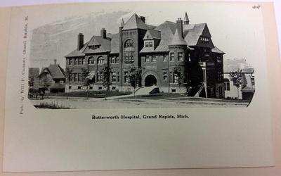Postcard; Butterworth Hospital, Grand Rapids, Mi