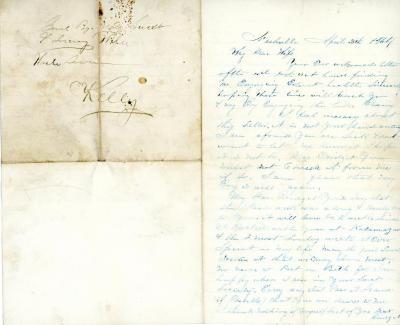 Letter, Patrick Kelly To Bridget Kelly