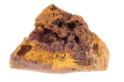 Chalcotrichite and Cuprite in Limonite
