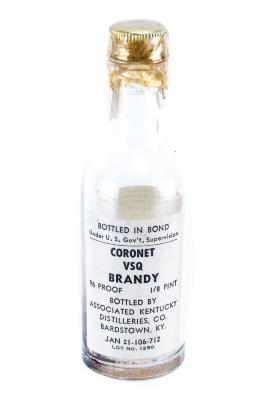 Brandy Bottle, 1/8 Pt., Roger B. Chaffee Archive Collection #6