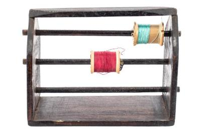 Sewing Spool Holder With Thread, Roger B. Chaffee Archive Collection #6
