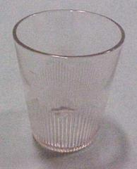 Tumbler, Early Diamond Pattern, Clear