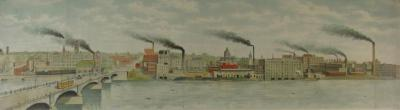 Print, Engraving, Grand Rapids From West Bank Of Grand River