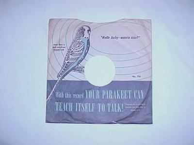 Record, Disc, 'parakeet Training Record.'