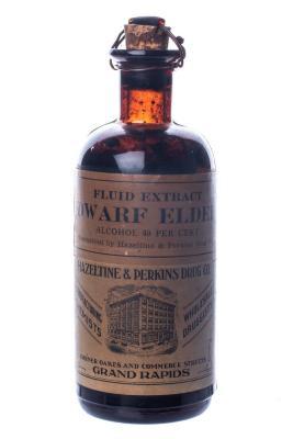 Bottle, Fluid Extract Dwarf Elder