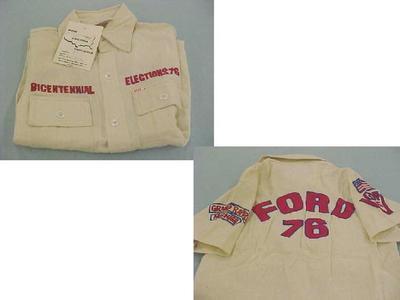 Bicentennial Election Shirt, Gerald R. Ford, 1976
