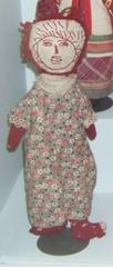 Handmade Rag Doll With Red Embroidered Face, Made For Roger B.  Chaffee By His Grandmother
