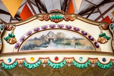 Frieze Panel With Painting, Cottage With Empty Boat On Shore