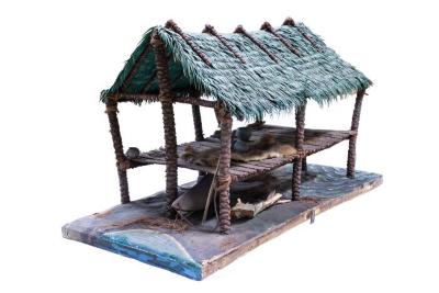 Model, Seminole Indian Thatched House