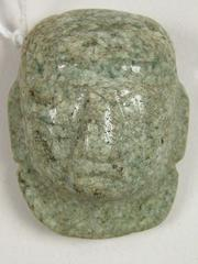 Mayan Jade 'bib-head Pendeant'