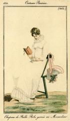 Card, Trade, Picture Of A Woman Seated, Reading A Book