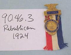 Republican National Convention Pin, Cleveland, Ohio, 1924