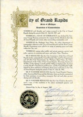Resolution of Commendation