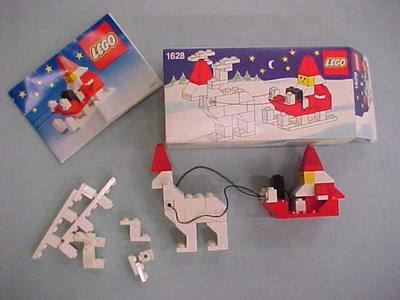 Lego Building Blocks, Santa And Sleigh