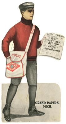 Souvenir, Calendar, '1905 New Years Greeting From The News Boys Of  The Evening Press'