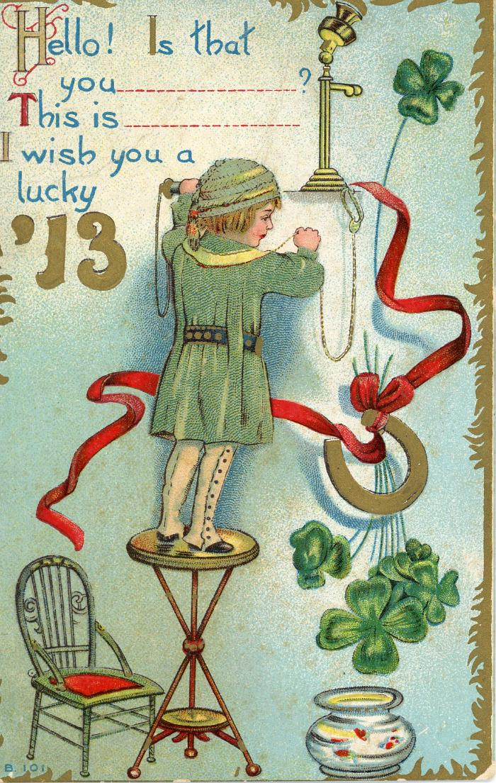 Greeting Card, 'i Wish You A Luck 13'