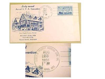 Cachet,  62nd Annual Convention, Society Of American Philatelists