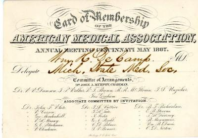 Card Of Membership, American Medical Association