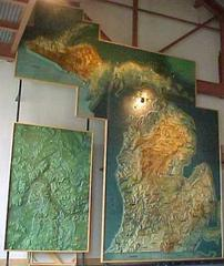 Topographical Maps, State Of Michigan And  Kent County