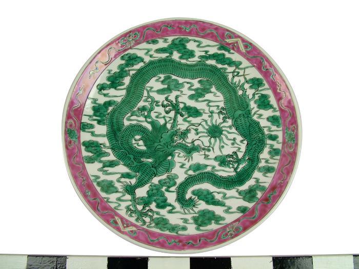 Plate, Dragon Design