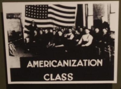 Glass Plate Negative, Americanization Class, American Seating Company