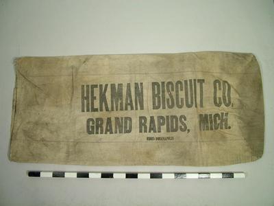Flour Sack, 'hekman Biscuits'