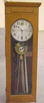 Electric Master Clock With Program Ribbons