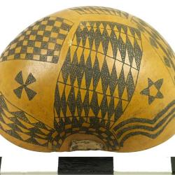 Decorated Gourd, Sudanese Immigration Archival Collection #137