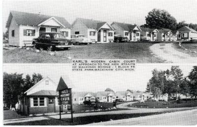 Postcard, Karl's Modern Cabin Court