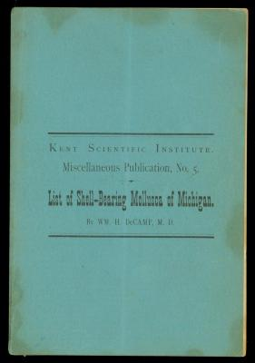 Booklet, List Of The Shell-bearing Mollusca Of Michigan