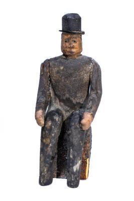 Ottawa Seated Male Figure .17, Creche Or Nativity Piece