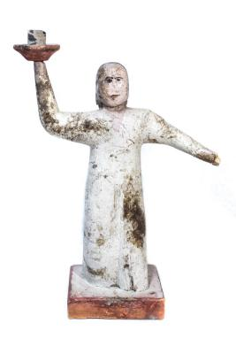 Ottawa Catholic Female Figure Candlestick .6, Creche Or Nativity Piece