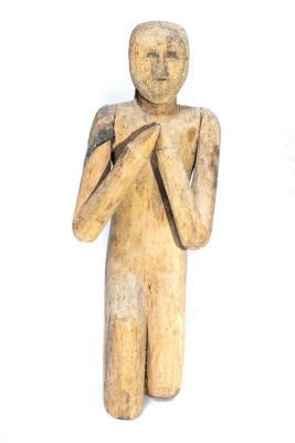 Ottawa Catholic Praying Woman Figure .3, Creche Or Nativity Piece