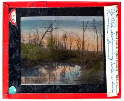 Lantern Slide, The Old Swimming Hole Where Lincoln Swam