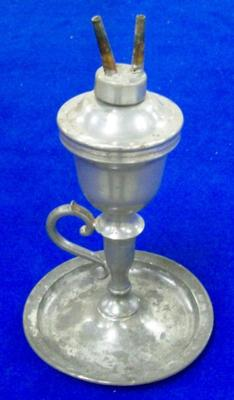 Oil Lamp With Chained Top