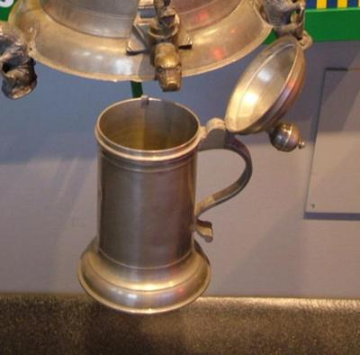 Tankard With Ball Handle And Engraving, Fp