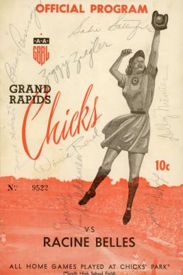 Program with Signatures, All-American Girls Baseball League Archival Collection #66