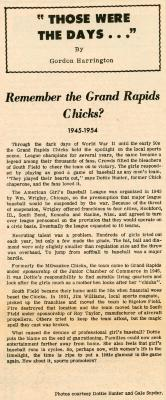 Newsletter, The Interpreter, All-American Girls Baseball League Archival Collection #66