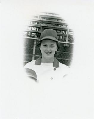 Photograph, Marilyn Jenkins in Uniform, All-American Girls Baseball League Archival Collection #66