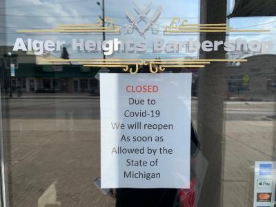 Digital Photographs, Alger Heights Barbershop