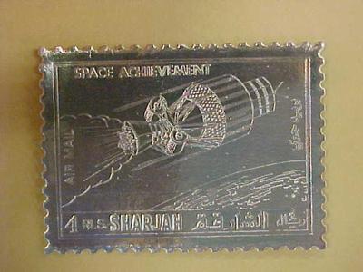 Space Achievement Metallic Foil Stamp