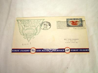 Commemorative Postal Cover, Air Mail Service First Flight