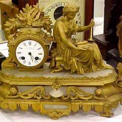 Allegorical Mantle Clock