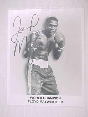Photograph, Autographed, Champion Boxer, Floyd Mayweather, C.1.4