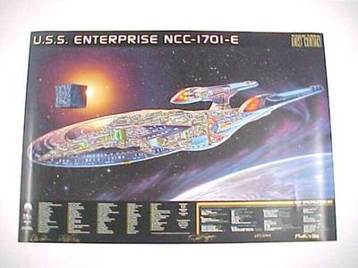 Poster, Uss Enterprise Ncc-1701-e First Contact Movie Star Trek