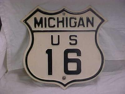 Highway Sign, Michigan U.S. Route 16