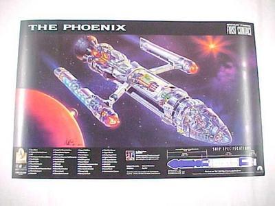 Poster, The Phoenix, Star Trek