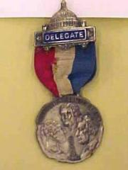 Progressive National Convention Pin, Chicago, Illinois, 1916