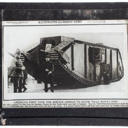 Lantern Slide, America's First Tank